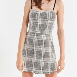 UO   Cher plaid straight-neck mini dress